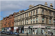NS5566 : Corner of Dumbarton Road & Crow Road, Glasgow by Leslie Barrie
