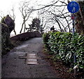 ST2788 : Groes Road approaches a canal bridge,  Rogerstone, Newport by Jaggery