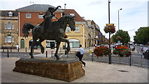 SP4540 : Statue at Banbury Cross by Clint Mann