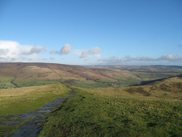East along the Vale of Edale-Derbyshire