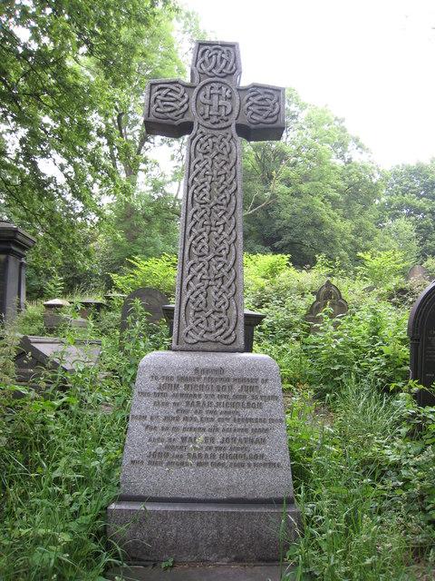 Ornate headstone, Sheffield General Cemetery