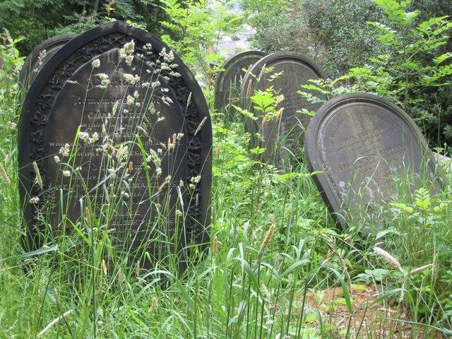 Headstones in Sheffield General Cemetery