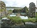 NR3868 : Finlaggan - Grave slabs inside the chapel by Rob Farrow