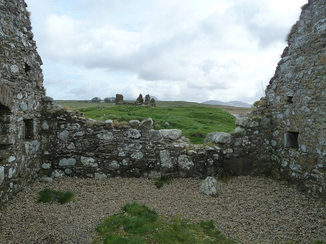 Finlaggan - View to the Chapel from the Great Hall