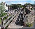 SO5175 : Wooden footbridge alongside Corve Bridge, Ludlow by Jaggery