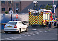 J5082 : Fire appliance and car, Bangor by Rossographer