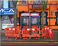 J5081 : Telephone Call Boxes, Bangor by Rossographer