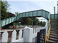 TM0321 : Footbridge over railway at Wivenhoe by Hamish Griffin