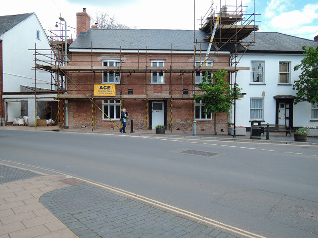 Cullompton: house at the end of Fore Street