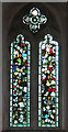 TF9828 : The church of All Saints in Stibbard - medieval stained glass by Evelyn Simak