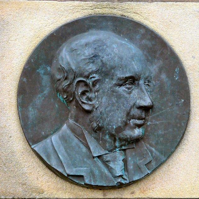 William Houlsdworth bronze portrait plaque