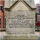 SJ8993 : Dedication to William Houldsworth by Gerald England
