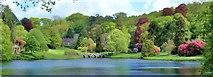 ST7733 : The Garden Lake : Stourhead by Len Williams