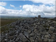 SX7475 : Cairn and trig pillar on Rippon Tor by David Smith
