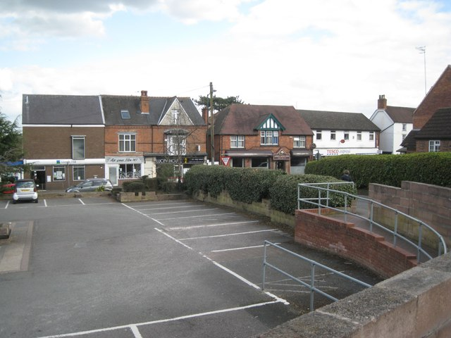 Co-op car park and Alcester Road shops, Studley
