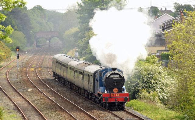 Steam locomotive no 85, Knockmore, Lisburn (May 2014)