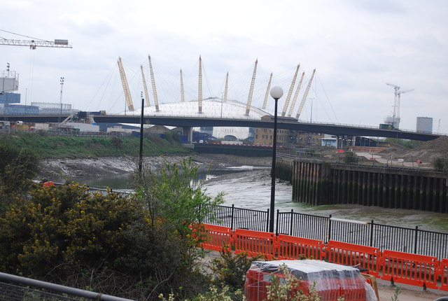 A1020 flyover and O2 Arena
