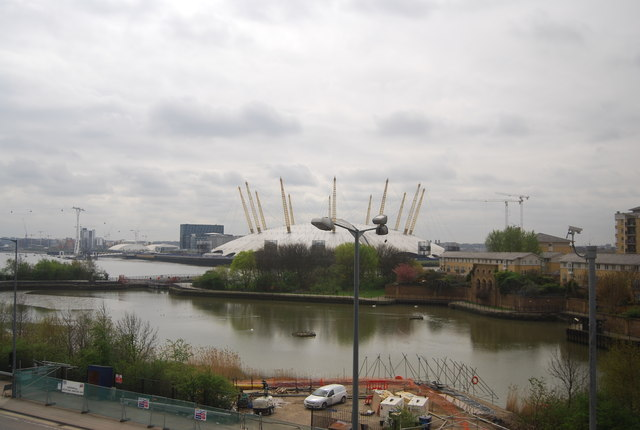 East India Dock Basin and O2 Arena