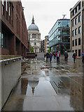 TQ3280 : St Paul's Reflection, London EC2 by Christine Matthews