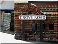 TM4289 : Grove Road sign by Adrian Cable