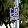 J5082 : 'Electric Vehicle' sign, Bangor by Rossographer