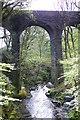 SH7040 : Afon Cynfal o dan traphont hen rheilffordd / Afon Cynfal underneath an old railway viaduct by Ian Medcalf