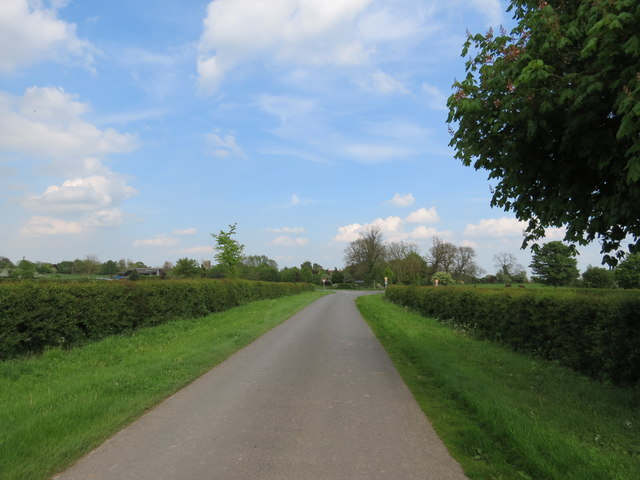 Minor  road  toward  the  B1248  at  Lund