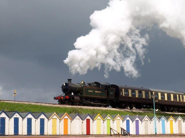 Steam train, Goodrington Sands