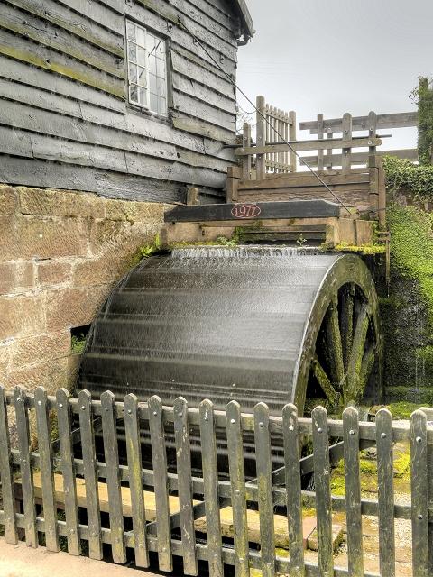 Timber Overshot Water Wheel, Stretton Mill