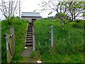 H4572 : Steps to small utility station, Omagh by Kenneth  Allen