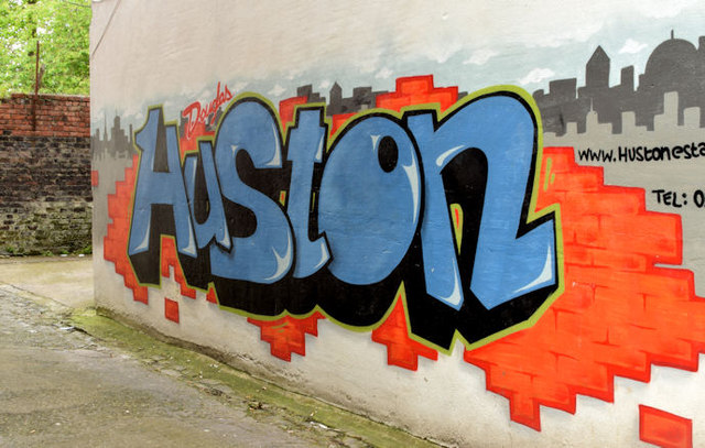 Advertising graffiti, Stranmillis, Belfast