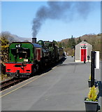 SH5848 : Porthmadog train at Beddgelert station by Jaggery