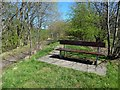 NS4886 : Bench beside cycle path by Lairich Rig
