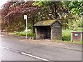 SJ4259 : Bus Stop near Aldford Bridge by David Dixon