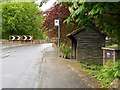 SJ4259 : Wooden Bus Shelter on the B5130 at Aldford by David Dixon