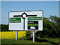 TM4589 : Roadsign on the B1127 Copland Way by Adrian Cable