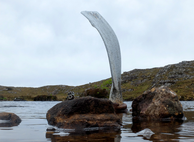 Propeller blade at the Fairy Loch crash site
