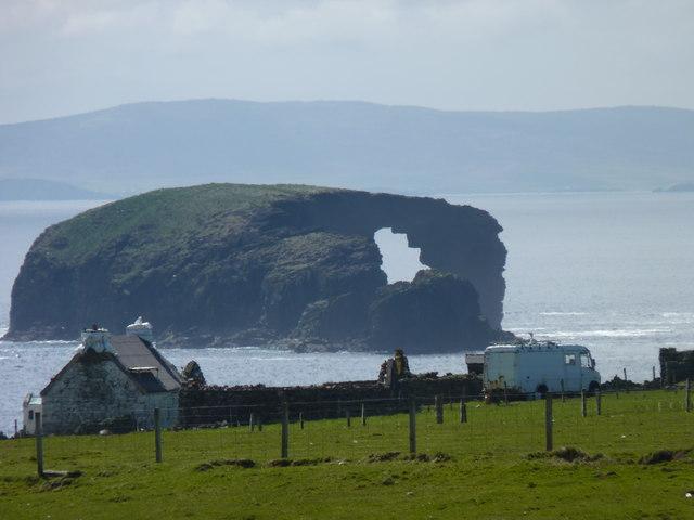Perforated island