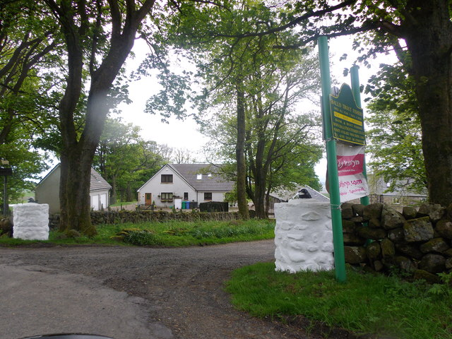 Ballo Trout Fishery sign