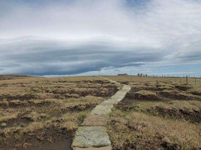 Pennine Way on Cairn Hill