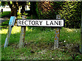 TM4489 : Rectory Lane sign by Adrian Cable