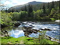 NN2635 : River Orchy at Easan Dubha falls by sylvia duckworth