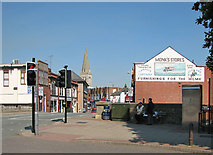SP7387 : Market Harborough: sitting in the shade by John Sutton