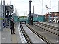 SK5739 : Nottingham Station tram terminus by Alan Murray-Rust