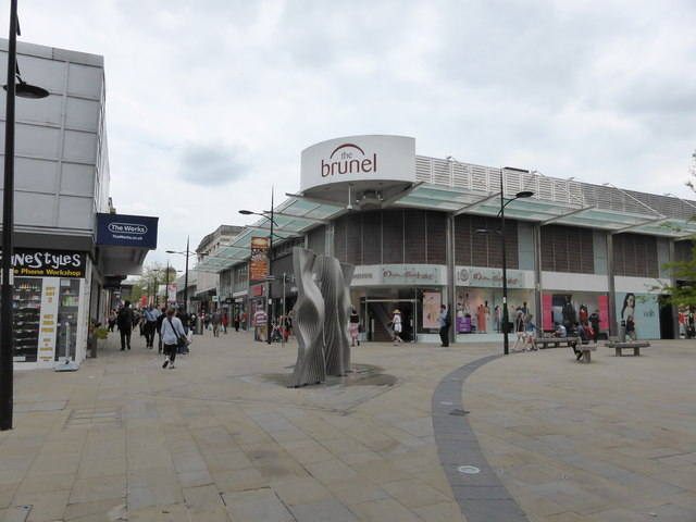 Part of the town centre Swindon