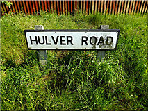 TM4888 : Hulver Road sign by Adrian Cable