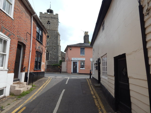 The end of West Street, Wivenhoe