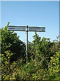 TM4888 : Roadsign on Church Road by Adrian Cable