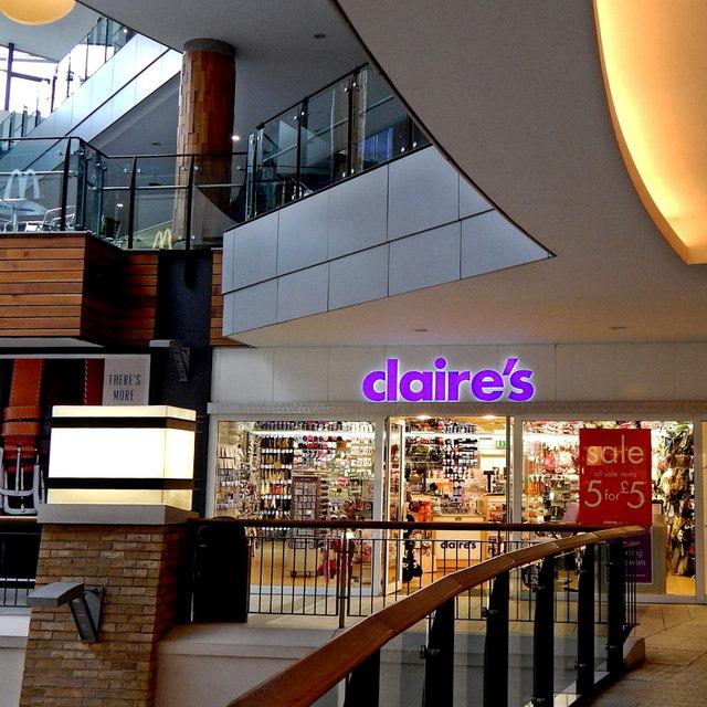 Belfast - City Centre - Victoria Centre/Square - Claire's Store