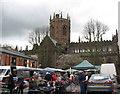 SJ6552 : Nantwich church and market-Cheshire by Martin Richard Phelan